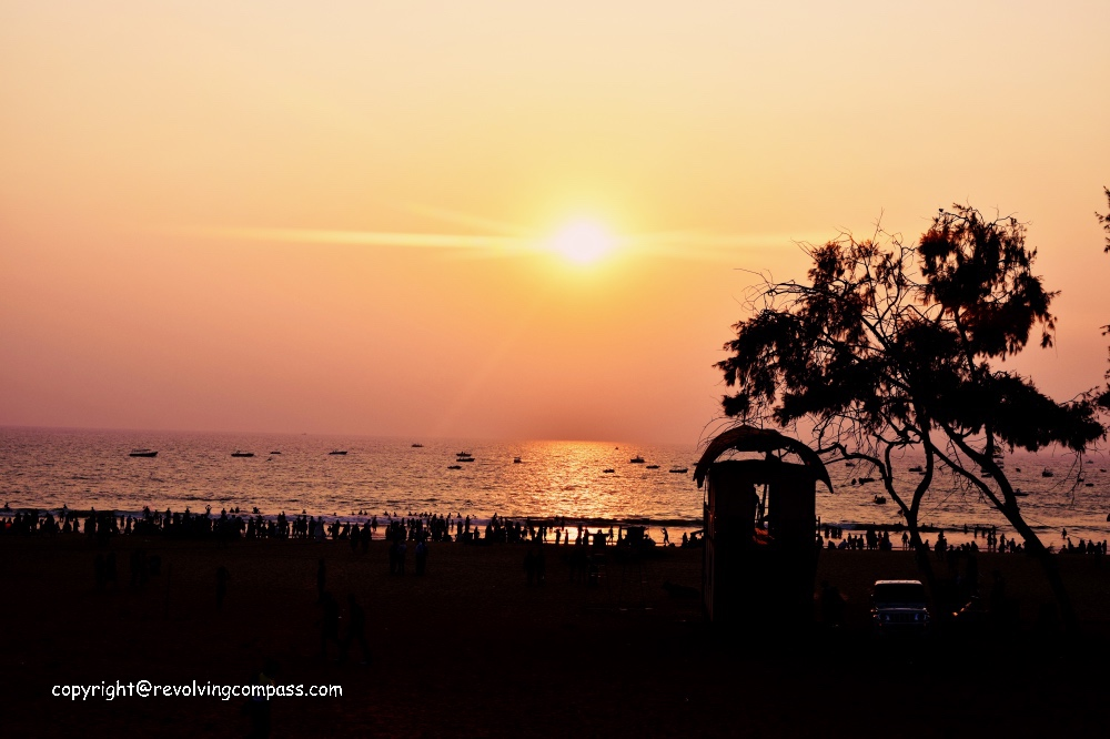 Goa vacation sunset