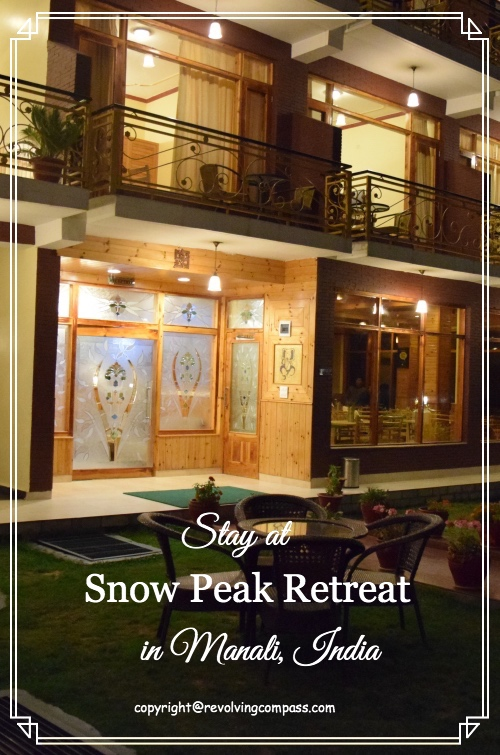 Hotel Snow Peak Retreat Manali is a great place to stay. It provides panormic view of snow clad mountain peaks. Do stay when visiting Manali, Himachal Pradesh, India