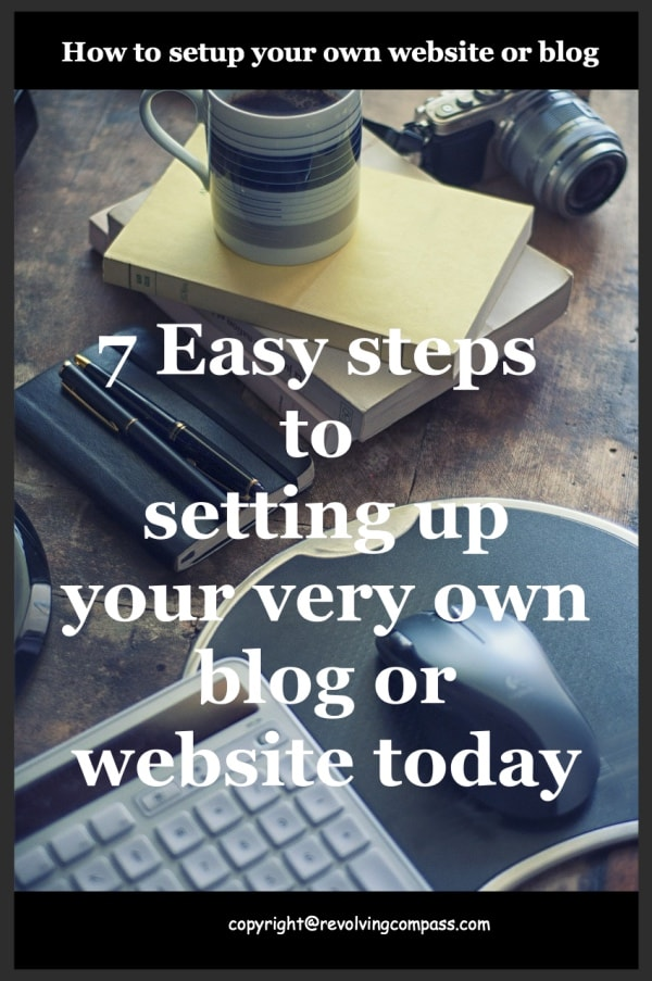 How to setup your own website in 7 easy steps using bluehost as the hosting provider and wordpress as the blogging platform.