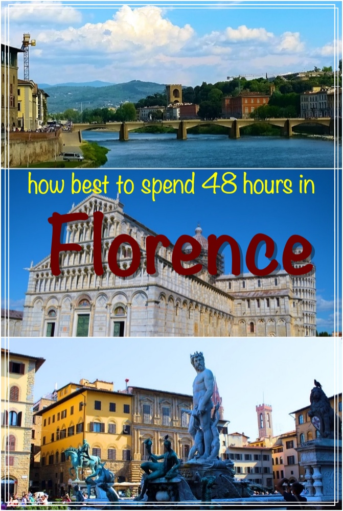 Best way to spend 48 hours in Florence including walking tours covering prominent structures, a half day tour to Pisa, lots of ways to soak into the culture and much more