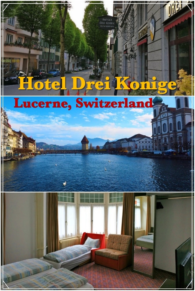 Hotel Drei Konige Lucerne Switzerland | Centrally located | Walking distance from railway station | Walking distance from most of the attractions