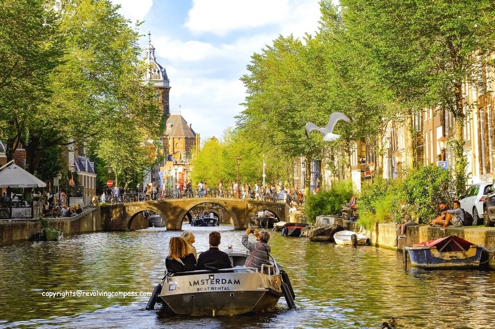 the self guided Amsterdam city walking tour