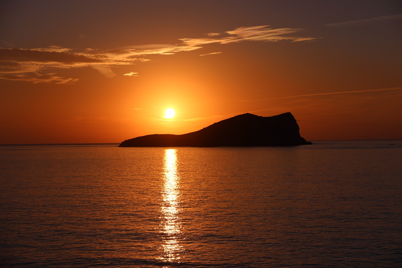 A gorgeous sunset across Ibiza