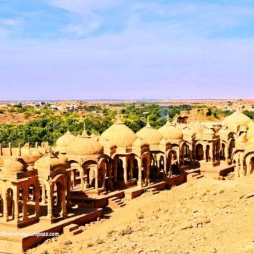 The Golden Cenotaphs of Bada Bagh, Jaisalmer