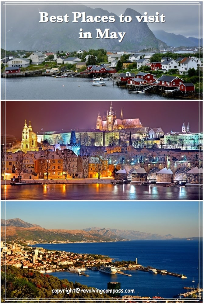 Best places to visit in May | Croatia | Barcelona | Sweden | Norway | Venice | Paris | Prague